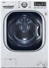 "LG TurboWash 27"" Electric Front Load Washer Dryer Combo WM3997HWA"
