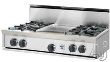 """BlueStar 36"""" Open Burner Gas Cooktop RGTNB36"""