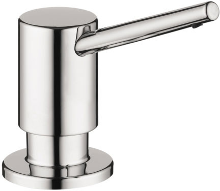 Hansgrohe 04539000 Contemporary Soap Dispenser with 16 oz Bottle Capacity Chrome