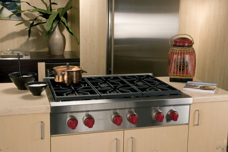 Wolf Srt366 36 Quot Pro Style Gas Rangetop With 6 Dual Stacked