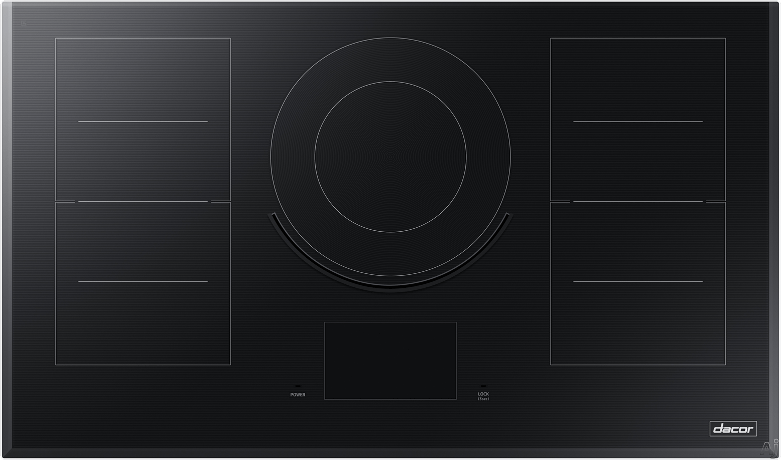 "Dacor Modernist DTI36M977BB 36 Inch Induction Cooktop with iQ Kitchen, Flex Zoneâ""¢, Virtual Flameâ""¢, Hot Surface Indicator, 9 Induction Zones, LCD Control Panel and Child Lock"