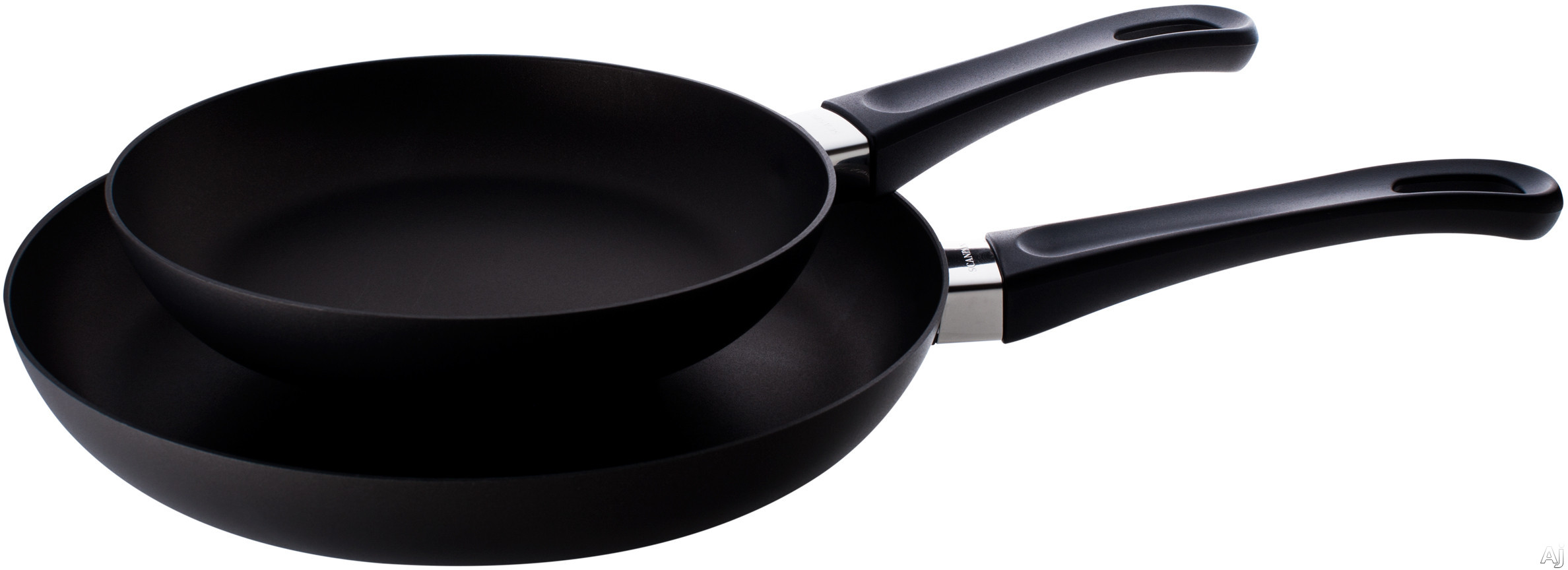 Scanpan 10202600 Classic 2-Piece Fry Pan Set with Ceramic Titanium Surface, Handcrafted in Denmark, Non-Stick, Ovenproof, Dishwasher Safe, 100% Recycled Materials and PFOA-Free