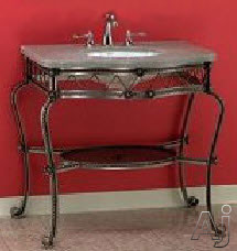 Empire Industries 104F Wrought Iron Console with Open Shelf