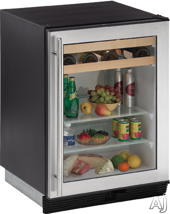 "U Line 1000 Series 1075BEVS15 24"" Beverage Center with 65 Can Capacity, 16 Wine Bottle Capacity, U.S. & Canada 1075BEVS15"