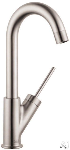 Hansgrohe Axor Starck Series 10826801 Deck-Mounted Bar Kitchen Faucet with 1.5 GPM, 150-¦ Swivel Range, Aerated Spray, Joystick Ceramic Cartridge and ADA Compliant: Steel Optik