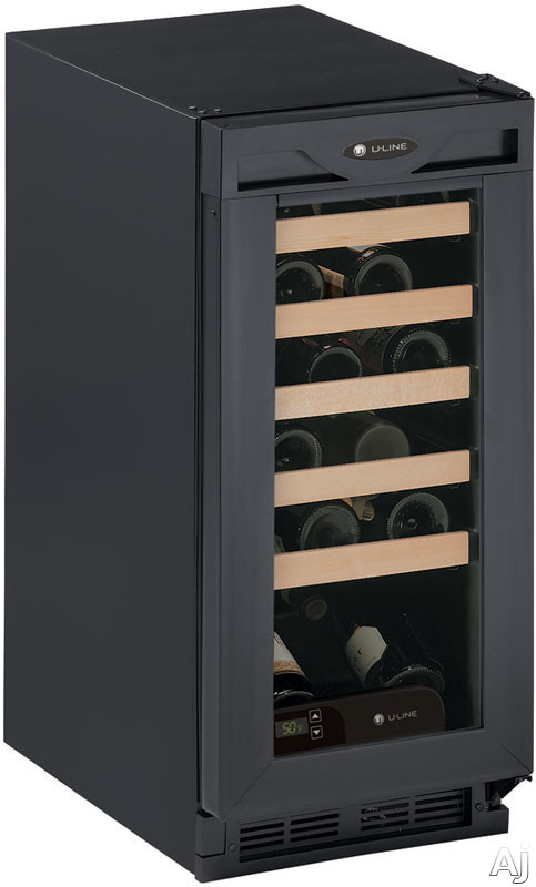 "U Line Wine Captain 1000 Series 1115WCB00 15"" Built-in Wine Storage with 24-Bottle Capacity, U.S. & Canada 1115WCB00"