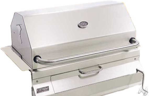 "Fire Magic Charcoal Legacy Collection 12SC01CA 26"" Custom I Built-in Charcoal Grill with 432 sq. in. Cooking Area, Stainless Steel Cooking Grids, Warming Rack and Adjustable Charcoal Pan: Smoker Oven and Hood"