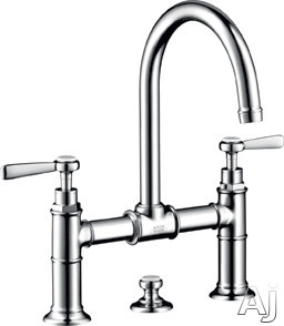 "Hansgrohe Axor Montreux Series 16511 Double Lever Widespread Lavatory Faucet with 6-7 / 8"" Reach, U.S. & Canada 16511"