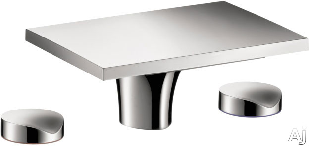 Hansgrohe Axor Massaud Series 18015001 Widespread Faucet with 1.32 GPM, Non-Aerated Stream, Joystick Ceramic Cartridge, Chrome Finish and EcoSmart Technology