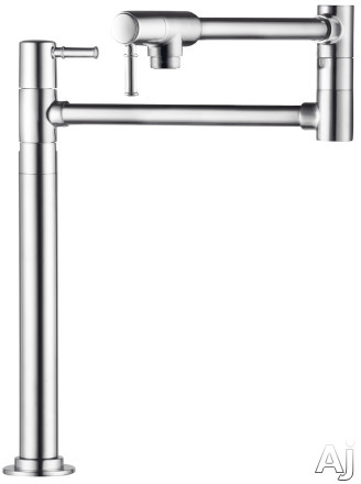 "Hansgrohe Talis C Series 04219 Double Lever Deck Mount Pot Filler with 23-1 / 2"" Reach and 2 Ceramic, U.S. & Canada 4219"