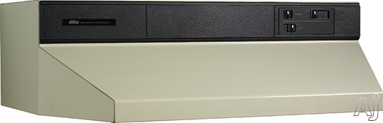 Broan 88000 Series 883608 36 Inch Under Cabinet Range Hood with 360 CFM Internal Blower and Standard Heat Sentry: Almond