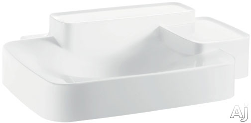 Hansgrohe Axor Bouroullec Series 19942000 Wall-Mounted Washbasin with Two Shelves and Mineral Cast with GelCoat