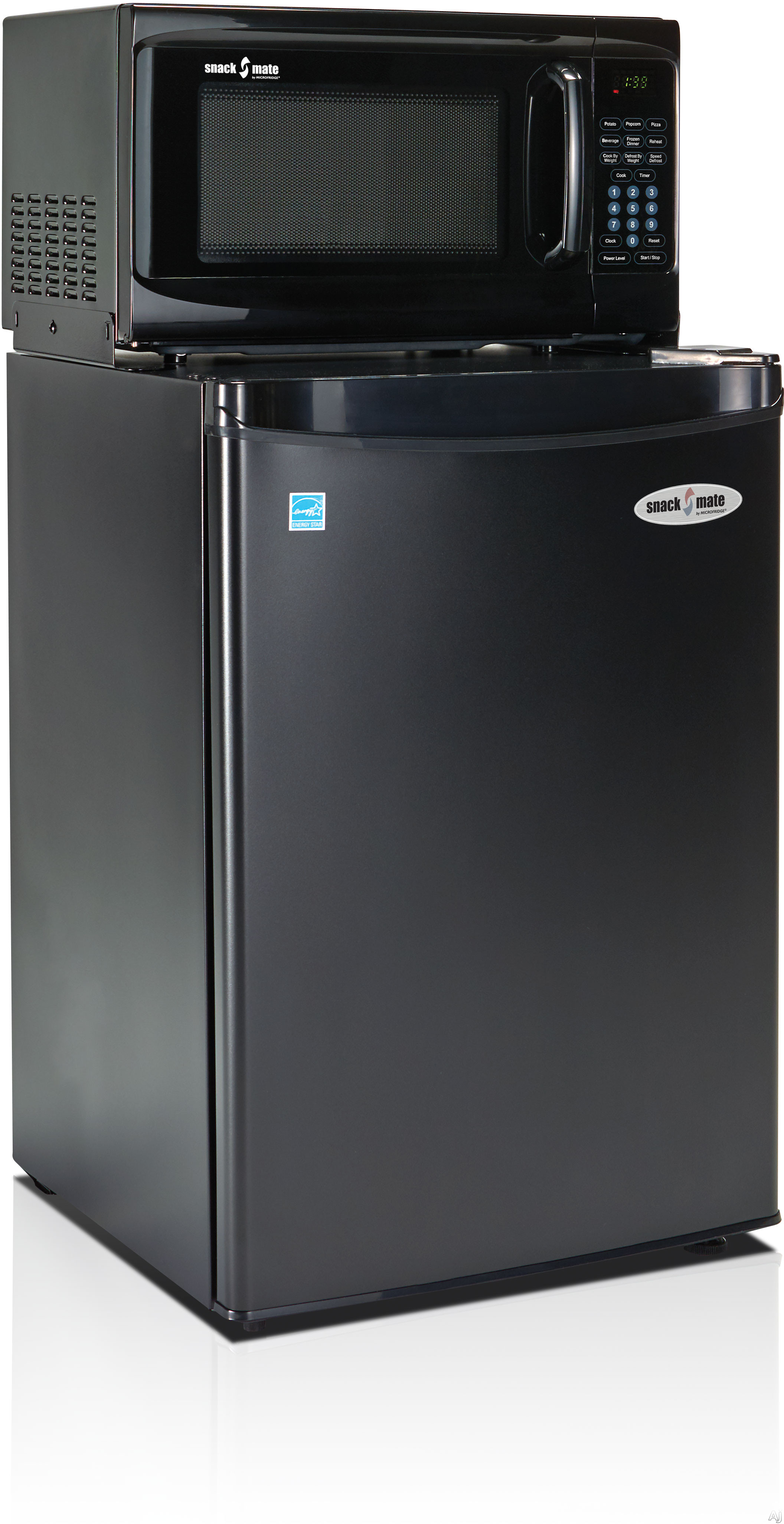 MicroFridge Snackmate Series 26SM47A1 2.6 cu. ft. Compact Refrigerator with 700 Watt Microwave, One-Plug-to-the-Wall Operations, 3 Wire Shelves, 2 Liter Bottle Door Storage, CanStor Beverage Dispenser and Energy Star Rated