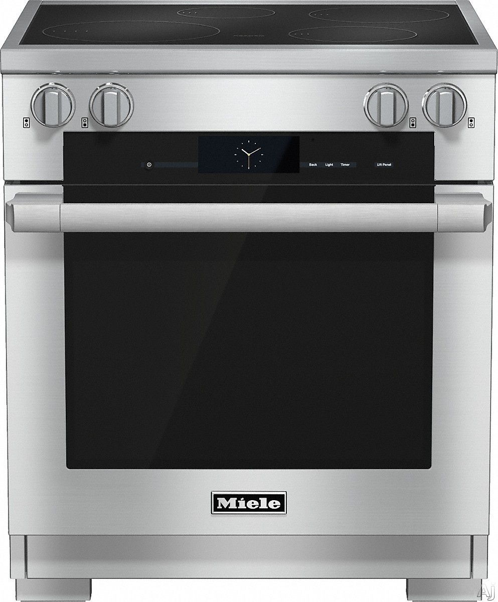 Miele HR1622I 30 Inch Pro-Style Induction Range with 4 Cooking Zones, TwinPower Convection Fan Oven, TwinBooster Function, 21 Operating Modes, Wireless Roast Probe and Self-Clean