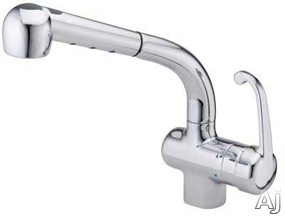 hamat 32811st single lever pull out kitchen faucet with 9