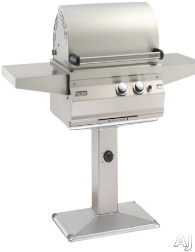 Fire Magic Legacy Collection 21S1A1P6 50 Inch Patio Post Mount Deluxe Gas Grill with 368 sq. in. Cooking Area, 42,000 Total BTU, Stainless Steel Burners and All Infrared Burners