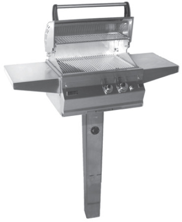 Fire Magic Legacy Collection 21S1S1NG6 50 Inch In-Ground Post Mount Deluxe Gas Grill with Cooking Zones, Stainless Steel Burners, 42,000 Total BTU and 368 sq. in. Cooking Area: Natural Gas