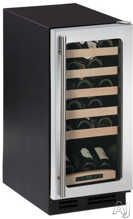 "U Line Wine Captain 2000 Series 2115WC 15"" Built-in Wine Storage with 24-Bottle Capacity, Sold Beech, U.S. & Canada 2115WC"