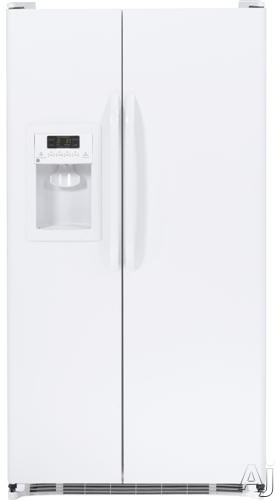 GE GSH22JGDWW 21.9 cu. ft. Side by Side Refrigerator with Slide-Out Spill Proof Glass Shelves, U.S. & Canada GSH22JGDWW