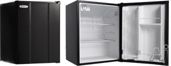 MicroFridge 23MF4R 2.3 cu. ft. Compact Refrigerator with 2 Wire Shelves, 2 Door Bins, 1 Interior Can Dispenser, ENERGY STAR and Automatic Defrost: Black