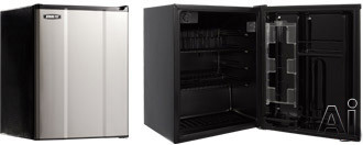 MicroFridge 23MF4RS 2.3 cu. ft. Compact Refrigerator with 2 Wire Shelves, 2 Door Bins, 1 Interior Can Dispenser, ENERGY STAR and Automatic Defrost: Stainless Steel