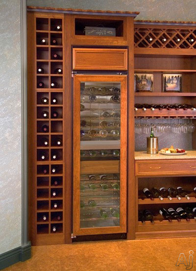 View Of 2 Zone Wine Cellar Model