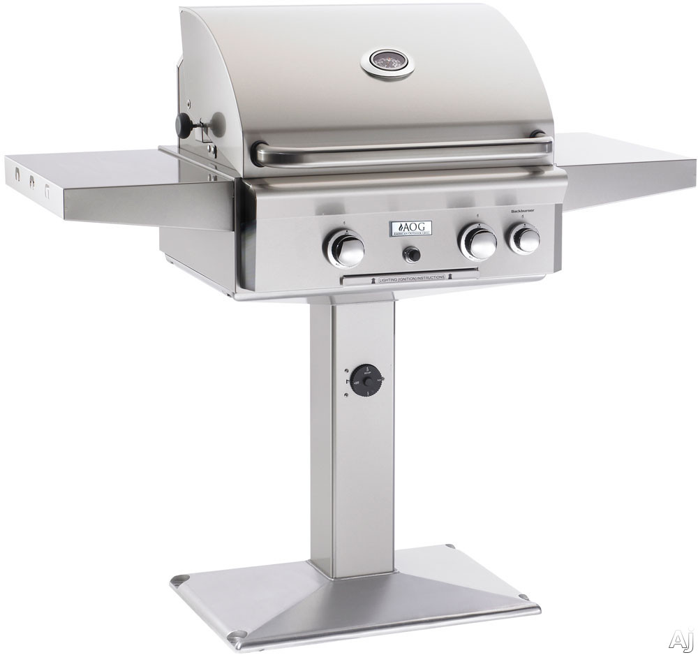 """American Outdoor Grill 24NP 24"""" Post Mount Gas Grill with 432 sq. in. Cooking Surface, 42,000 Total, U.S. & Canada 24NP"""