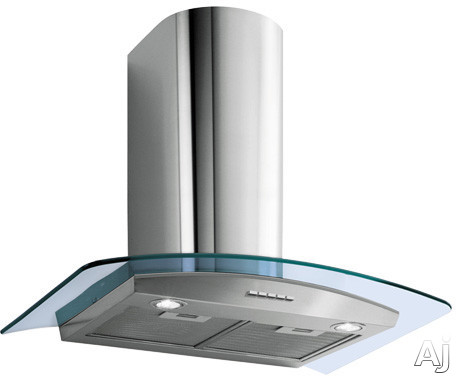 Futuro Futuro Moon Crystal Series WL24MOONCRYS Wall Mount Chimney Range Hood with 940 CFM Internal Blower, 4 Speed Electronic Controls, Halogen Lights, Tempered Curved Glass Panel and Convertible to Recirculation: 24 in. Width