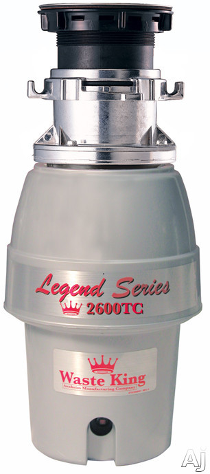 Waste King Legend Easy Mount Series 2600TC 1 / 2 HP Batch Feed Waste Disposer with 2600 RPM Motor, U.S. & Canada 2600TC