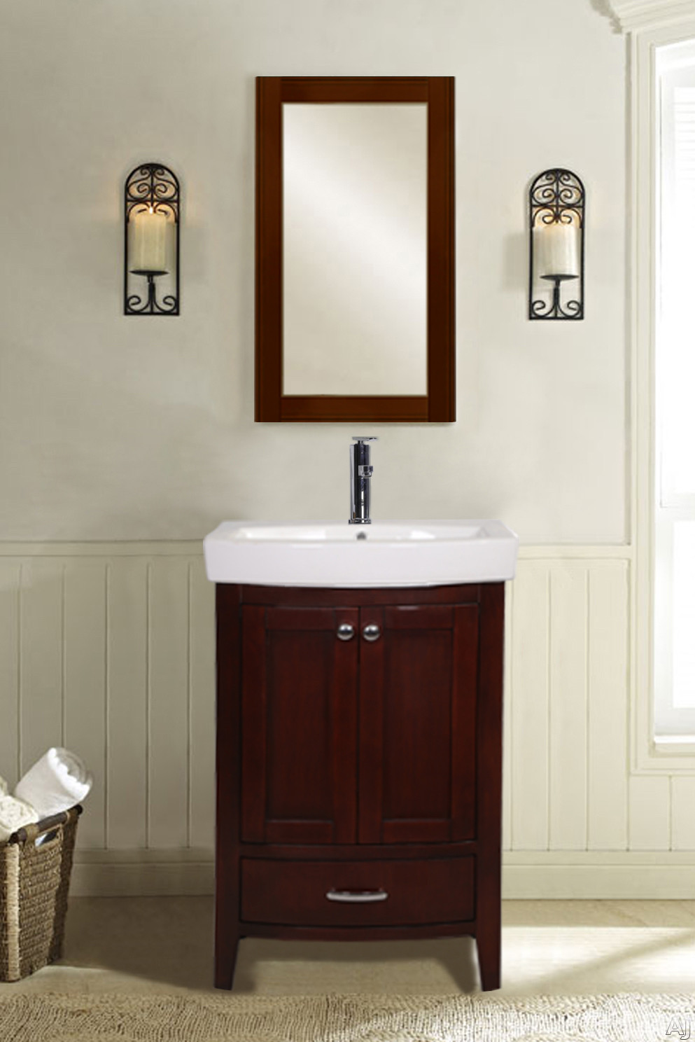Empire Industries Arch Collection Amdc 22 Inch Arch Collection Mirror For Bathroom Sink And Vanity: Dark Cherry