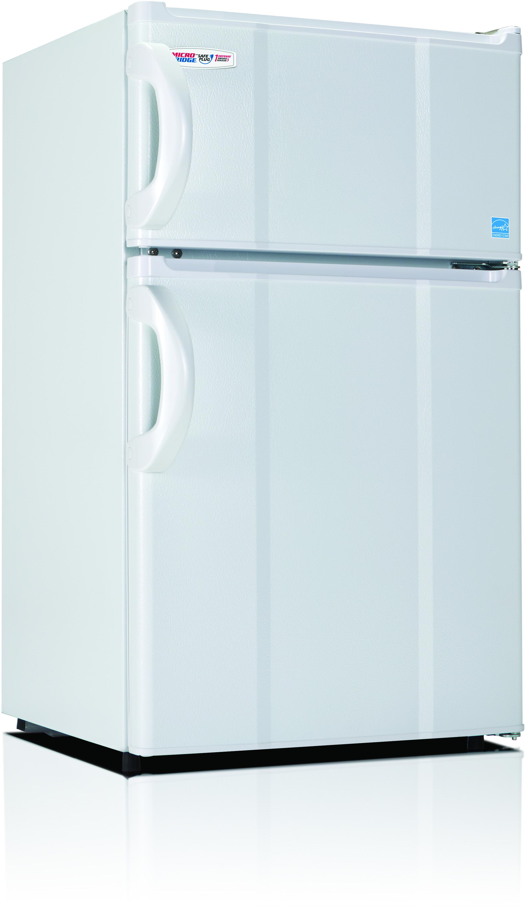 MicroFridge 30RMFRW 3.0 cu. ft. Compact Refrigerator with 1 Wire Shelf, Crisper Drawer, 2 Door Bins, 0-¦ Freezer, Full-Width Door Bin and Ice Cube Tray