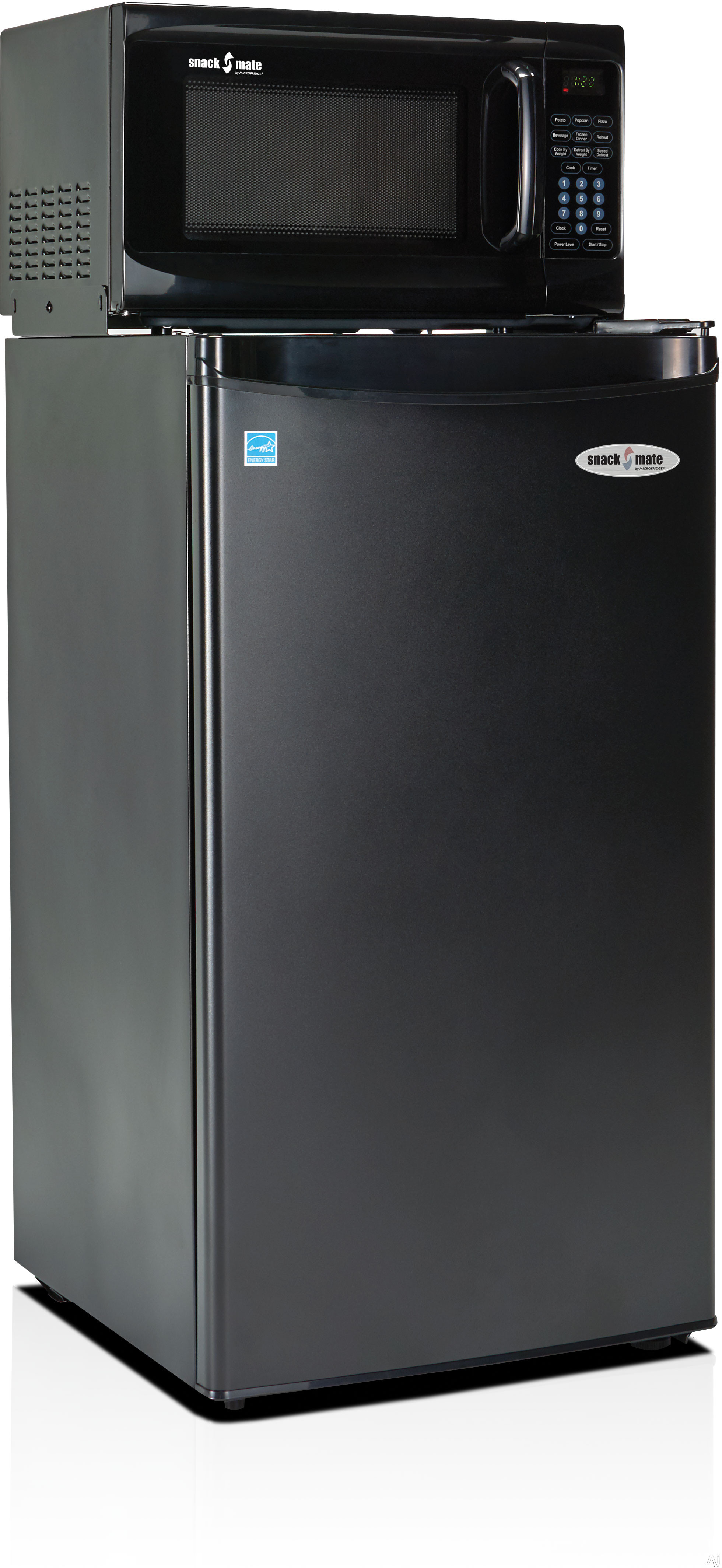 MicroFridge Snackmate Series 32SM4A7A1 3.2 cu. ft. Compact Refrigerator with 700 Watt Microwave, One-Plug-to-the-Wall Operations, 3 Shelves, CanStor Beverage Dispenser, 2-Liter Bottle Door Storage, ENERGY STAR and Ice Compartment
