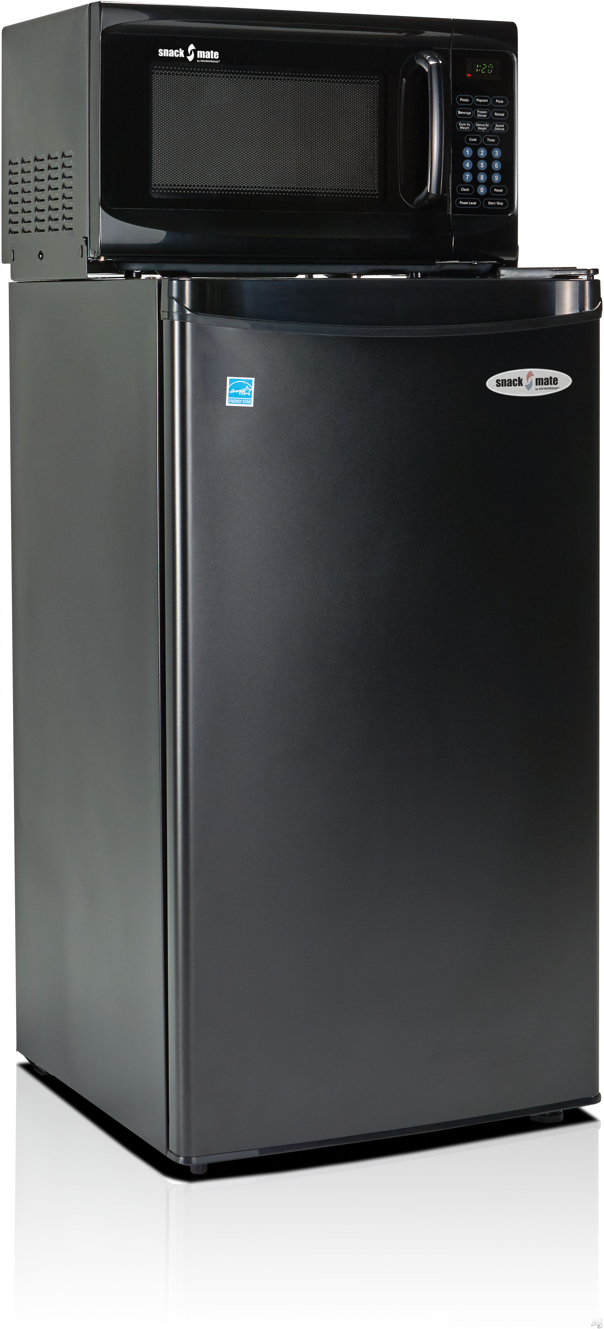 MicroFridge Snackmate Series 33SM47A1 3.3 cu. ft. Compact Refrigerator with 700 Watt Microwave, One-Plug-to-the-Wall Operations, 4 Adjustable Shelves, CanStor Beverage Dispenser, ENERGY STAR and 2-Liter Bottle Door Storage