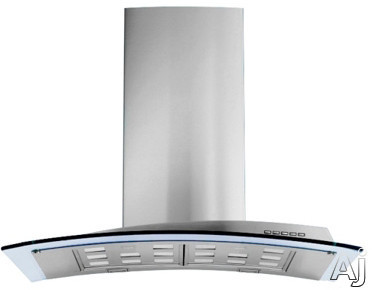 Futuro Futuro Acqualina Series WL30ACQUAGLS Wall Mount Chimney Range Hood with 940 CFM Internal Blower, 4 Speed Electronic Controls,