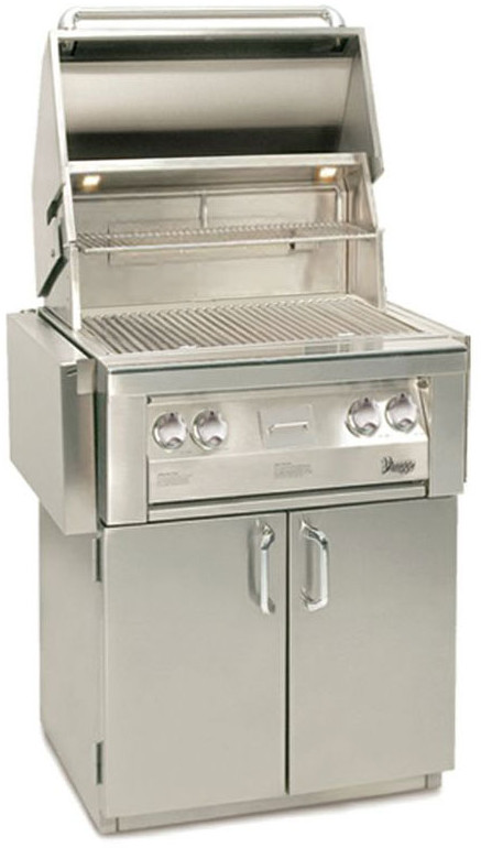 "Vintage VBQ30G 30"" Built-in Gas Grill with 542 sq. in. Cooking Surface, 77,000 Total BTUs, Smoker Burner, Rotisserie, Electronic Ignition, Drip Tray and Halogen Lighting"