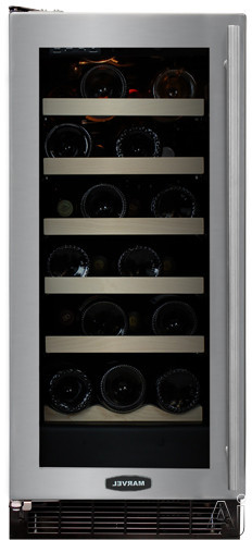 "Marvel 30WCMBBOLL 15"" Wine Cellar with 23-Bottle Capacity, 5 Silde Out Wine Racks, LED Control, U.S. & Canada 30WCMBBOLL"