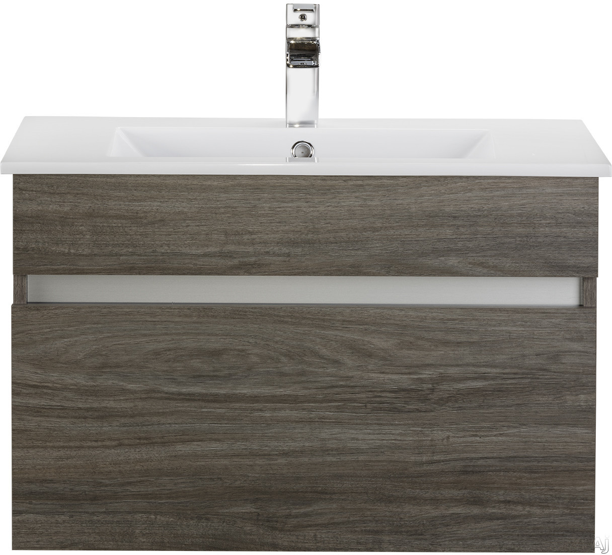 Cutler Kitchen & Bath Ivory FVCHSW30 30 Inch Wall Mount Bathroom Vanity with 1 Soft Close Drawer, Countertop and Sink and European Soft-Close Hardware: Southwester