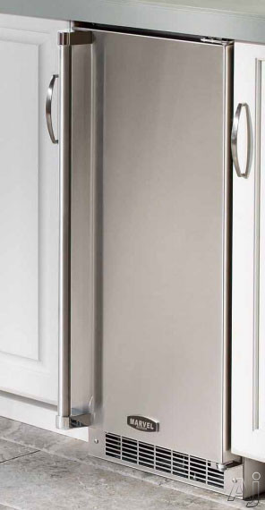 Marvel 30IMTSSFR 15 Inch Built-in Outdoor Clear Ice Maker with 34 Lbs. Daily Ice Production, 30 Lbs. Ice Storage, All Stainless Steel Construction, UL Listed for Outdoor Use and Gravity Drain Required