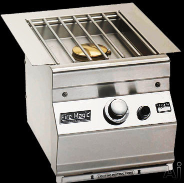 """Fire Magic 32791 11"""" Built-in Single Side Burner with 15,000 BTU, Cast Stainless Steel Grid, Precise, U.S. & Canada 32791"""