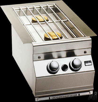 """Fire Magic 3281x 11"""" Built-in Double Side Burner with 15,000 BTU Burners, Cast Stainless Steel Grid, U.S. & Canada 3281x"""