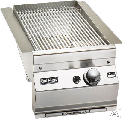 Fire Magic 32871P 14 Inch Built-in Searing Station/Side Burner with 24,400 BTU High Heat and Electronic Ignition: Liquid Propane