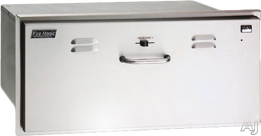 Image of Fire Magic Select Doors 33830SW 30 Inch Outdoor Warming Drawer with Moisture Regulation and Concealed Control