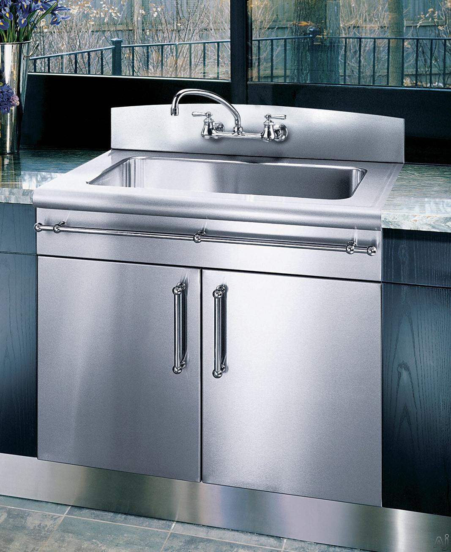 "Kitchen Sink With Backsplash: Elkay 3626EGSSNB4 36"" Flushmount Single Bowl Stainless"