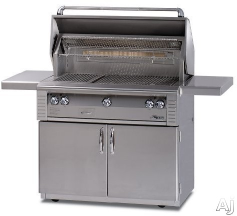 Alfresco LX2 ALX236C 36 Inch Freestanding Gas Grill with 660 sq. in. Cooking Surface, Stainless Steel Main Burners, Integrated Rotisserie Motor and Halogen Work Lights ALX236C