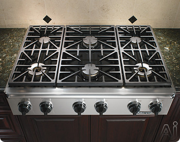"Dacor Discovery EG366SCHNG 36"" Gas Rangetop with 6 Sealed Burners, Continuous Grates, Illumina, U.S. & Canada EG366SCHNG"