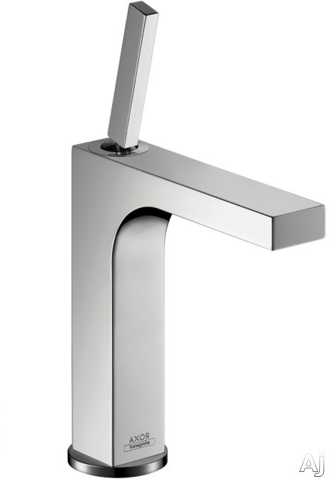 Hansgrohe Axor Citterio Series 39031001 Single-hole Faucet With 1.5 Gpm, Laminar Spray, Joystick Ceramic Cartridge, Ecosmart Technology And Pop-up Assembly: Chrome