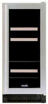 "Marvel Luxury Series 3BARMBSGR 14"" Dual Zone Beverage / Wine Refrigerator with 4-Wine Bottle, U.S. & Canada 3BARMBSGR"