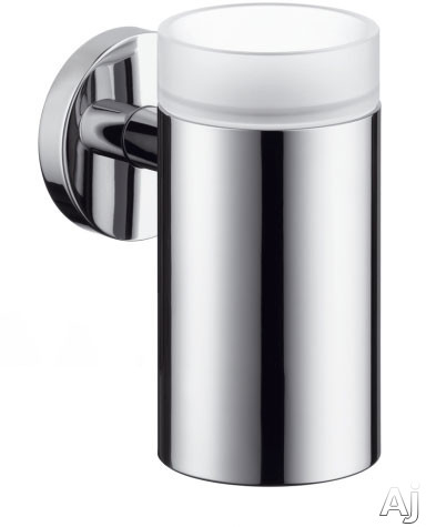 Picture of Hansgrohe 40518000 Wall Mount Tooth Brush Tumbler with Metallic Finish: Chrome