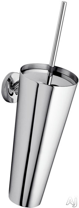 Picture of Hansgrohe Axor Starck Series 40835 Wall Mount Toilet Brush with Holder and Metallic Finish