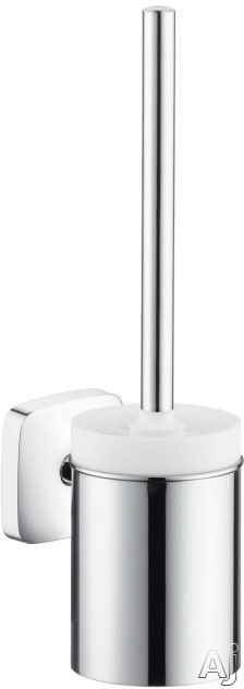 Image of Hansgrohe PuraVida Series 41505000 Wall Mount Toilet Brush with Holder with Chrome Finish
